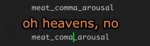 coma, not comma
